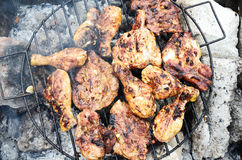 Chicken and pork Barbecue Royalty Free Stock Image