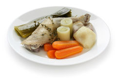 Chicken pot-au-feu Royalty Free Stock Images