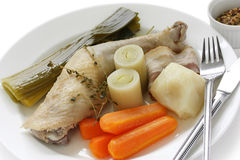Chicken pot-au-feu Royalty Free Stock Photos