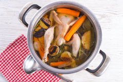 Chicken in the pot Stock Photos