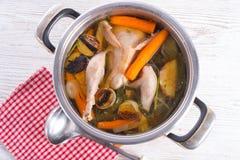 Chicken in the pot Stock Photos