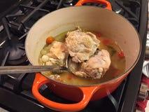 Chicken in a pot Royalty Free Stock Photos