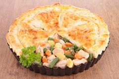 Chicken pot pie Royalty Free Stock Photos