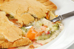 Chicken pot pie, closeup Royalty Free Stock Image