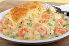 Chicken Pot Pie Dinner Royalty Free Stock Photo
