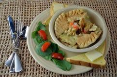 Chicken Pot Pie Dinner Stock Photo