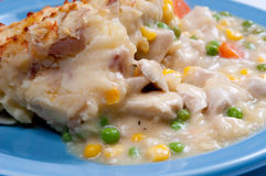 Chicken pot pie Stock Images