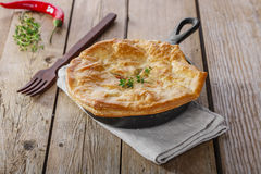 Chicken pot pie Royalty Free Stock Photography