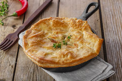 Chicken pot pie. Puff pastry Royalty Free Stock Images