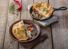 Chicken pot pie. Puff pastry Stock Photography