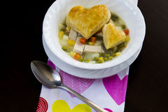 Chicken Pot Pie Soup Royalty Free Stock Images