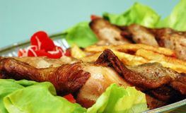 Chicken with potato Royalty Free Stock Photo