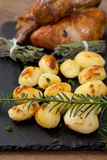 Chicken and potatoes Royalty Free Stock Photography