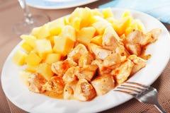 Chicken with potatos Stock Image