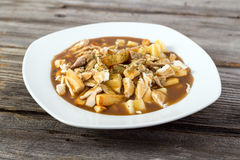 Chicken poutine quebec cuisine Royalty Free Stock Image