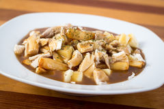 Chicken poutine quebec cuisine Stock Photography