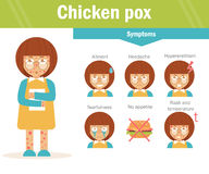 Chicken pox. Vector. Cartoon Royalty Free Stock Image