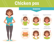 Chicken pox. Vector. Cartoon Royalty Free Stock Photography