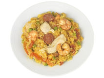 Chicken and Prawn Paella Royalty Free Stock Images