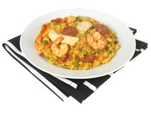 Chicken and Prawn Paella Royalty Free Stock Photo