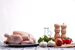 Chicken Preparation Royalty Free Stock Photography