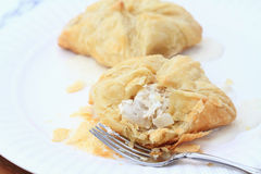 Chicken Puff Pastries Stock Photography