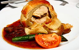 Chicken in Puff Pastry Stock Photography