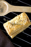 Chicken puff pastry Stock Image