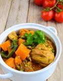 Chicken and pumpkin casserole Stock Photo