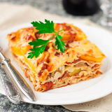 Chicken and Pumpkin Lasagna Royalty Free Stock Images