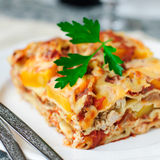 Chicken and Pumpkin Lasagna Stock Image