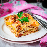 Chicken and Pumpkin Lasagna Royalty Free Stock Photography