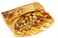 Chicken Quesadilla Stock Image