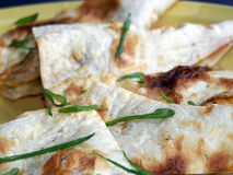 Chicken Quesadilla. Meal close up Stock Image