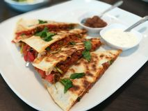 Chicken Quesadilla Mexican Food stock photos