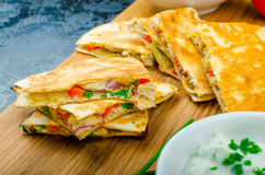 Chicken quesadilla Stock Photography