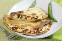Chicken quesadillas Stock Images