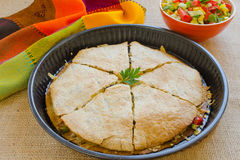 Chicken Quesadillas with  Cheese Stock Photography