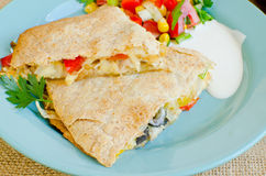 Chicken Quesadillas with  Cheese Stock Photos