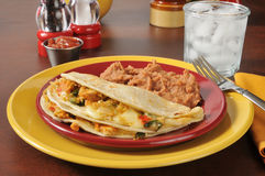 Chicken quesadillas Royalty Free Stock Photography