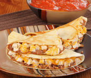 Chicken Quesadillas Meal Royalty Free Stock Photo
