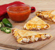Chicken Quesadillas Wedges Stock Photo