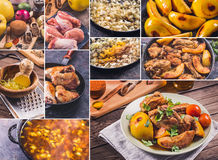 Chicken and quinces recipe Royalty Free Stock Photo