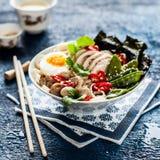 Chicken Ramen Soup Bowl Stock Images