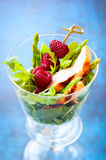Chicken and raspberry salad Royalty Free Stock Photo