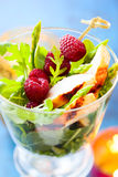 Chicken and raspberry salad Royalty Free Stock Image