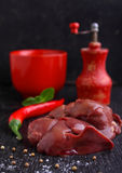 Chicken raw liver Royalty Free Stock Photo