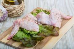 chicken raw wings Стоковая Фотография