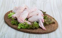 chicken raw wings Стоковое Изображение RF