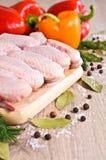 chicken raw wings Стоковые Изображения RF